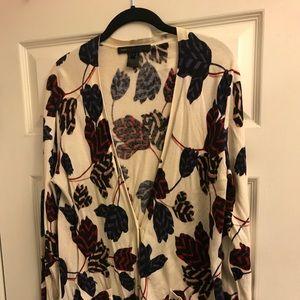 Marc Jacobs Floral Cardigan Size Large